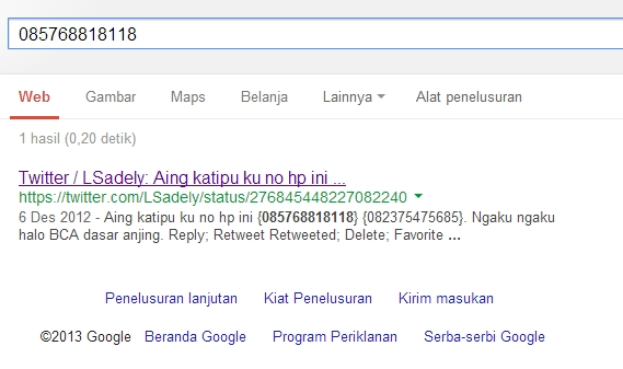 screenshoot dari google