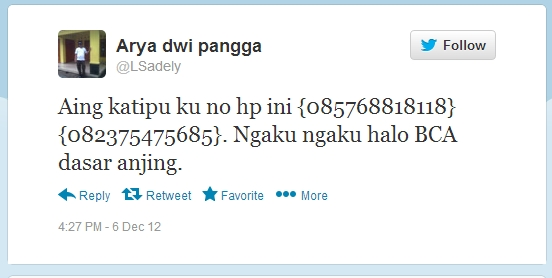screenshoot dari twitter